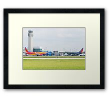 N383SW N715SW Southwest Airlines Arizona One Shamu Nose to Nose Framed Print