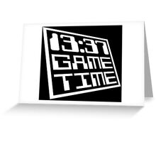 Game Time 13:37 Greeting Card