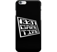Game Time 13:37 iPhone Case/Skin
