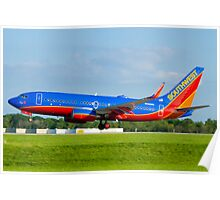 N443WN Southwest Airlines Boeing 737-7H4 Poster