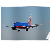 N705SW Southwest Airlines Boeing 737-7H4 Poster