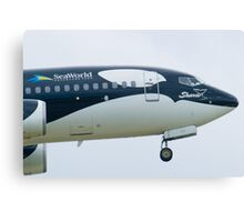 N715SW Southwest Airlines Shamu Boeing 737-7H4 Nose Canvas Print