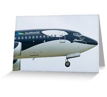 N715SW Southwest Airlines Shamu Boeing 737-7H4 Nose Greeting Card
