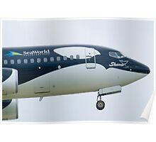 N715SW Southwest Airlines Shamu Boeing 737-7H4 Nose Poster