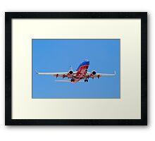 Southwest Airlines Belly Framed Print