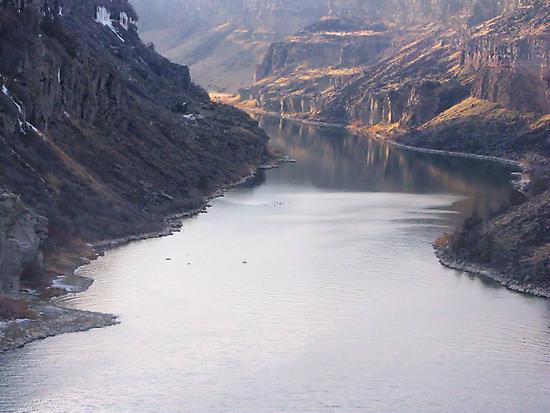 The Bottom of Shoshone Falls Snake River-2008 by Brenda Dahl