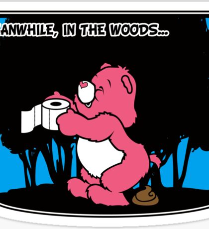 Meanwhile, in the woods... Sticker