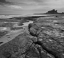 Bamburgh castle and coast No4  by StephenRB
