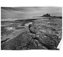 Bamburgh castle and coast No4  Poster