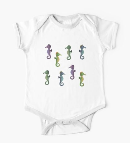 Multiple Seahorses One Piece - Short Sleeve