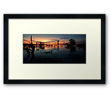 End of the Day - Menindee NSW Framed Print