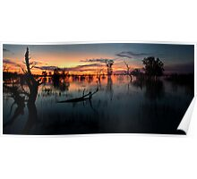 End of the Day - Menindee NSW Poster