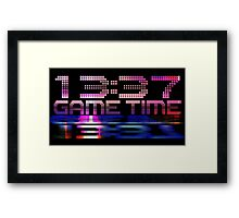 Future Game Time 13:37 Framed Print