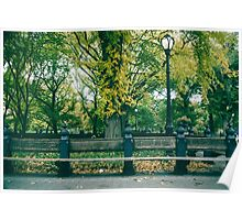 Seat in the Park Poster