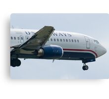 Nose Side Shot N440US US Airways Boeing 737-4B7 Canvas Print
