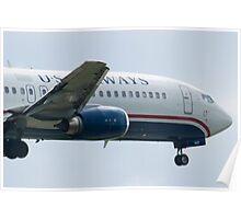 Nose Side Shot N440US US Airways Boeing 737-4B7 Poster