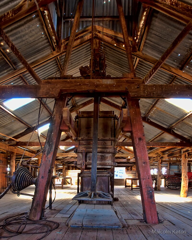 Kinchega Wool Press - Menindee, NSW by Malcolm Katon