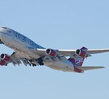 Gear Up G-VAST Virgin Atlantic Airways Boeing 747-400 by Henry Plumley