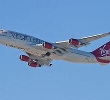 Side Shot G-VAST Virgin Atlantic Airways Boeing 747-400 by Henry Plumley