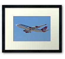 Side Shot G-VAST Virgin Atlantic Airways Boeing 747-400 Framed Print