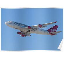 Side Shot G-VAST Virgin Atlantic Airways Boeing 747-400 Poster