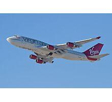 Side Shot G-VAST Virgin Atlantic Airways Boeing 747-400 Photographic Print