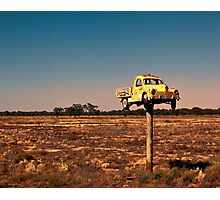 It Pays to Advertise - Pooncarie NSW Photographic Print