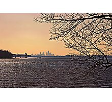 Delaware Philly Sunset Photographic Print