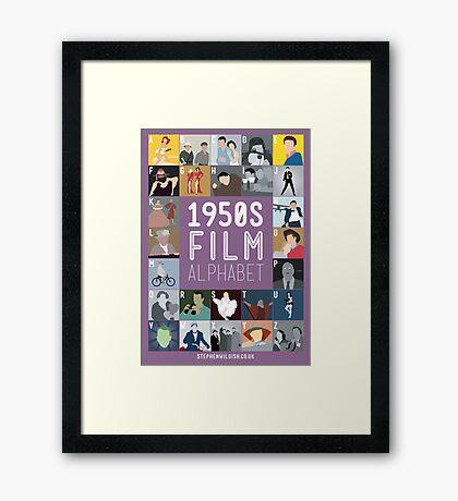 1950s Film Alphabet Framed Print