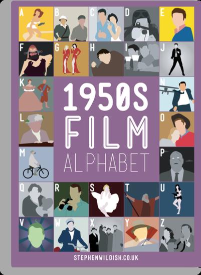 1950s Film Alphabet by Stephen Wildish