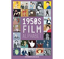 1950s Film Alphabet Photographic Print