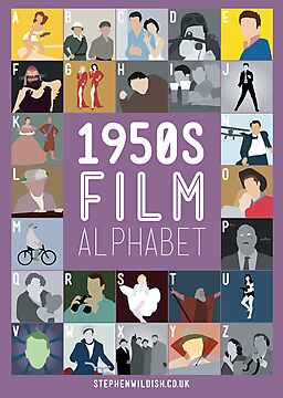 1950s Film Alphabet by Stephen Wildish