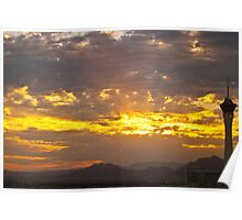 Sunrise Burning Through the Clouds Poster