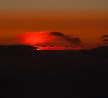 Clouds Afire Sunset by Henry Plumley