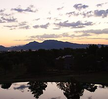 Dawn Breaks Frenchman Mountain by Henry Plumley