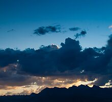 Deep Blue Sunset Summerlin Nevada  by Henry Plumley