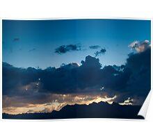 Deep Blue Sunset Summerlin Nevada  Poster