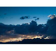 Deep Blue Sunset Summerlin Nevada  Photographic Print