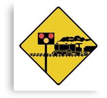 Level Crossing Sign, Ireland Canvas Print
