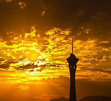 Sunrise Behind the Stratosphere  by Henry Plumley