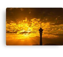 Sunrise Behind the Stratosphere  Canvas Print