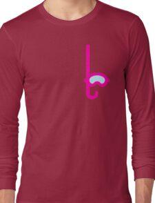 Pink Snorkel - Diver Pattern Long Sleeve T-Shirt