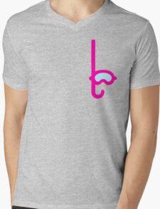 Pink Snorkel - Diver Pattern Mens V-Neck T-Shirt