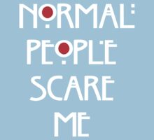 Normal People Scare Me v.2 One Piece - Short Sleeve