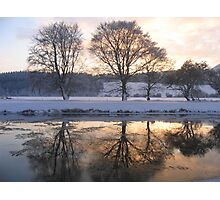 River Tweed in Winter Photographic Print
