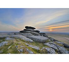 Cornwall: Outcrop on Roughtor Photographic Print