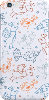 Cute Bird Pattern by kotopes