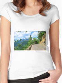 Going to the Sun Road, Glacier National Park Women's Fitted Scoop T-Shirt