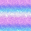 Cyan Pink Abstract Pattern by kotopes