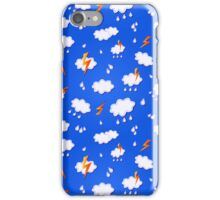 Clouds and Lights in Blu Sky iPhone Case/Skin